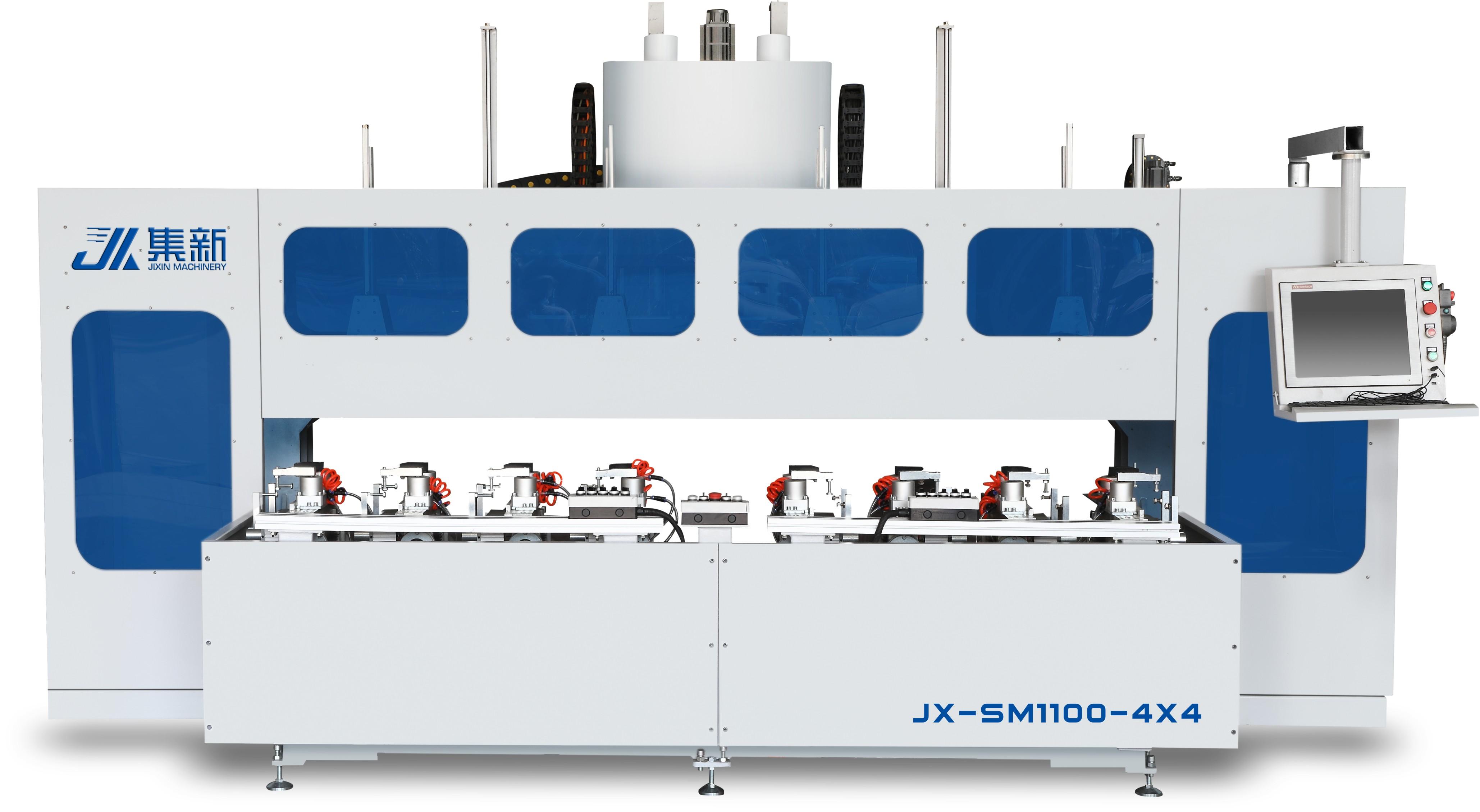 集新JX-SM1100-4x4双工位榫卯加工中心